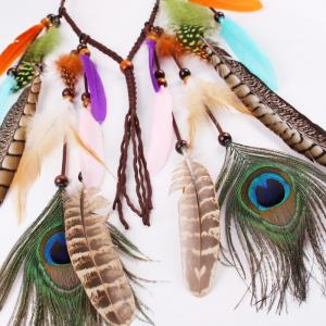 Bohemian Headdress Europe and The United States Gypsy Indian Feather Hair Ornaments -