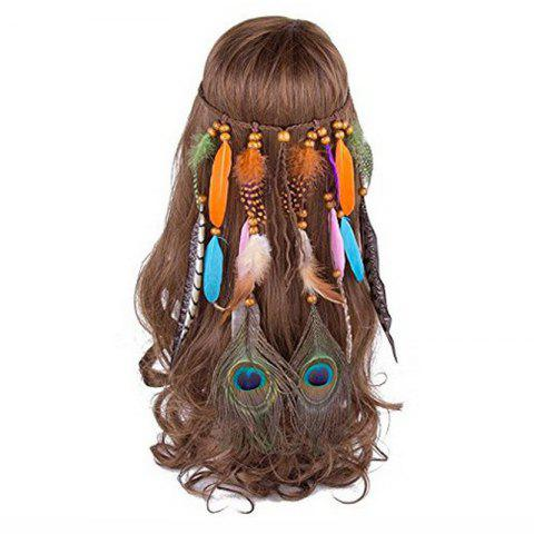Discount Bohemian Headdress Europe and The United States Gypsy Indian Feather Hair Ornaments