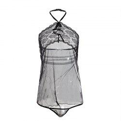 Transparent Skirt to Reveal Sexy Pajamas -