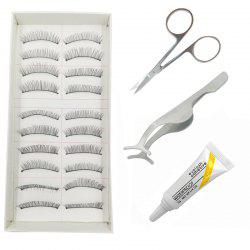 4 in 1 Makeup Daily Life Pure Manual Natural Long Suit False Eyelash -