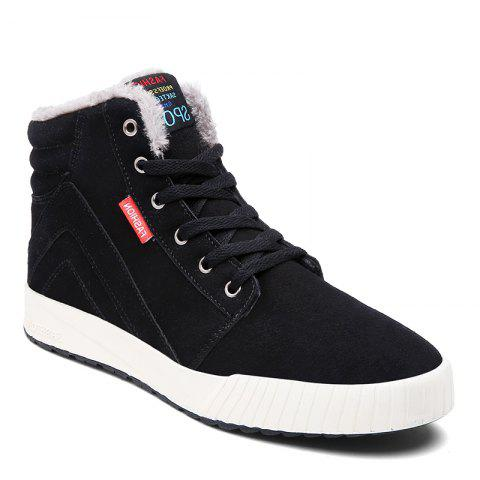 Trendy Men's Anti-Slip Fully Fur Lined High Top Shoes