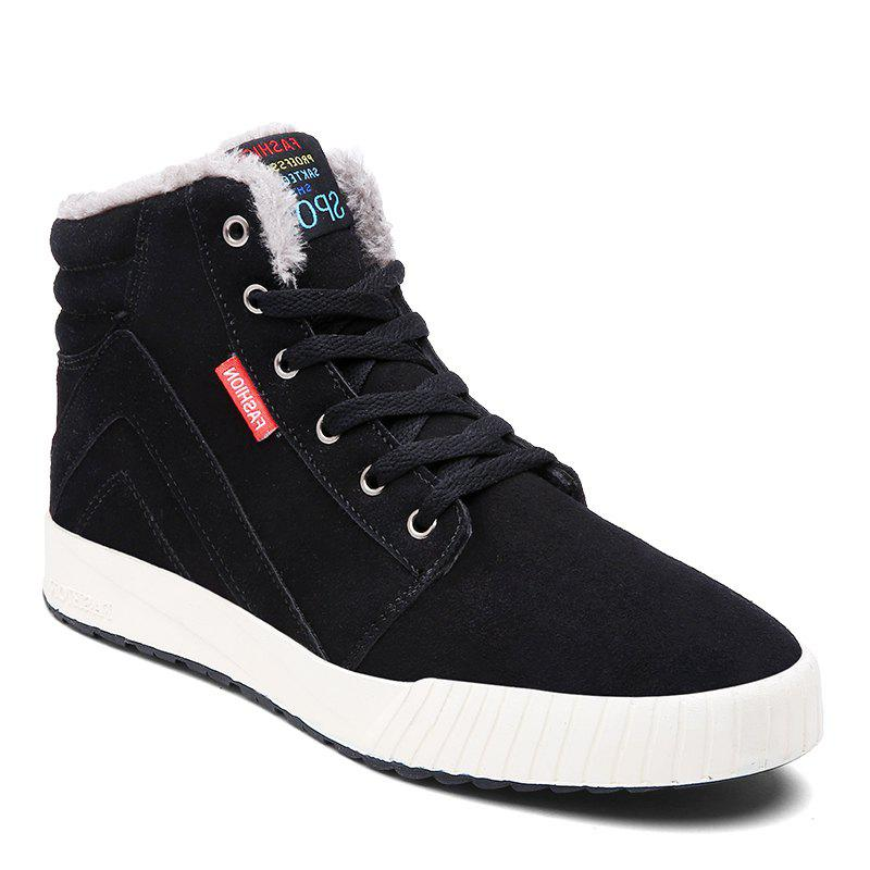 Shop Men's Anti-Slip Fully Fur Lined High Top Shoes