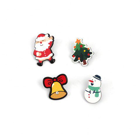 4pcs Europe et les États-Unis populaire Santa Claus Cartoon Series Ladies Broche