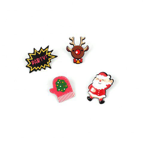 New 4 Pcs  Popular Santa Claus Cartoon Series  Ladies Brooch