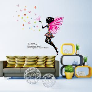 ... DSU New Butterfly Flower Fairy Wall Sticker Kids Room Bedroom Removable  Decor Art Home Mural   Part 70