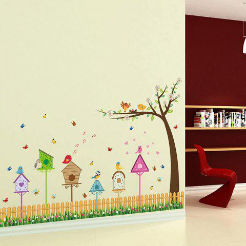 Outfits DSU Fence Bird And Tree Home Pattern Wall Sticker Kids Room Living  Room Decor Part 49