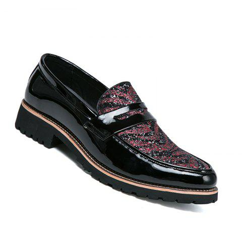 Hommes Casual Mode Voyage en plein air Business Rouge Noir Chaud Chaussures Taille 38-43
