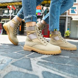 High Quality Shoes  Fashion Outdoor Couple  Walking High-Top Boots 35-44 -