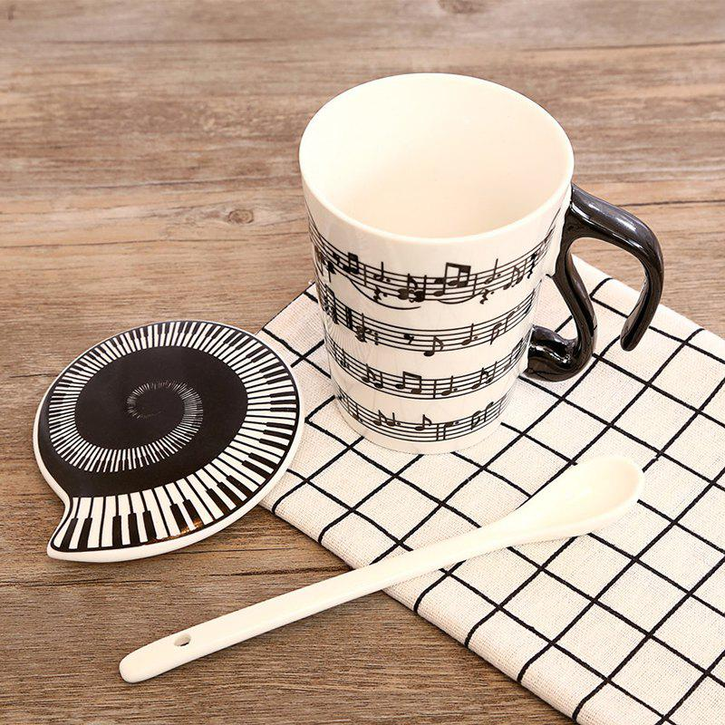 270ML Creative Musical Note CupHOME<br><br>Color: BLACK; Style: Casual,Fashion; Type: Milk,Others,Tea,Water; Material: Ceramics; Package weight: 0.5000 kg; Product weight: 0.4000 kg; Product size (L x W x H): 7.70 x 5.90 x 10.50 cm / 3.03 x 2.32 x 4.13 inches; Package size (L x W x H): 11.00 x 8.30 x 12.00 cm / 4.33 x 3.27 x 4.72 inches; Package Contents: 1 x Cup;