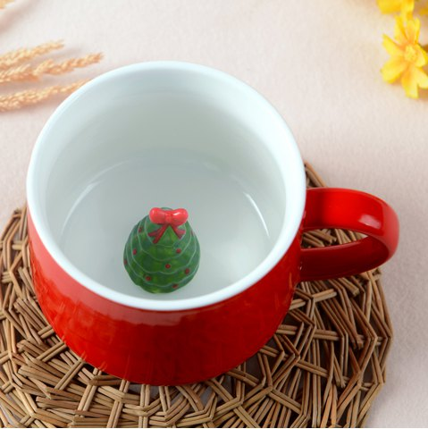 Affordable 400ML Christmas Pottery Mug
