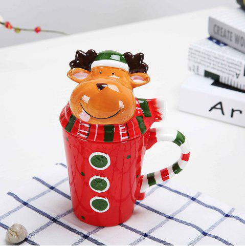 Tasse de Noël Cartoon animaux 400ML