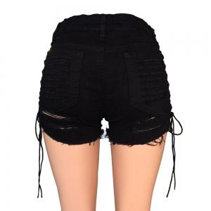 Poupées Tuer Current Mood Gothique Trou Femmes Lace Up Shorts Taille Haute Denim Shorts -