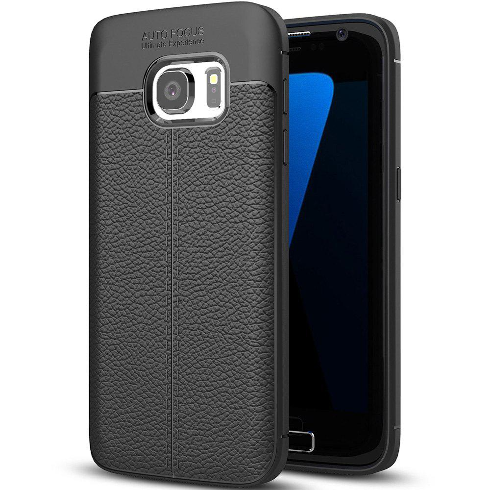 ASLING Lichee PU + TPU Case for Samsung Galaxy S7HOME<br><br>Color: BLACK;