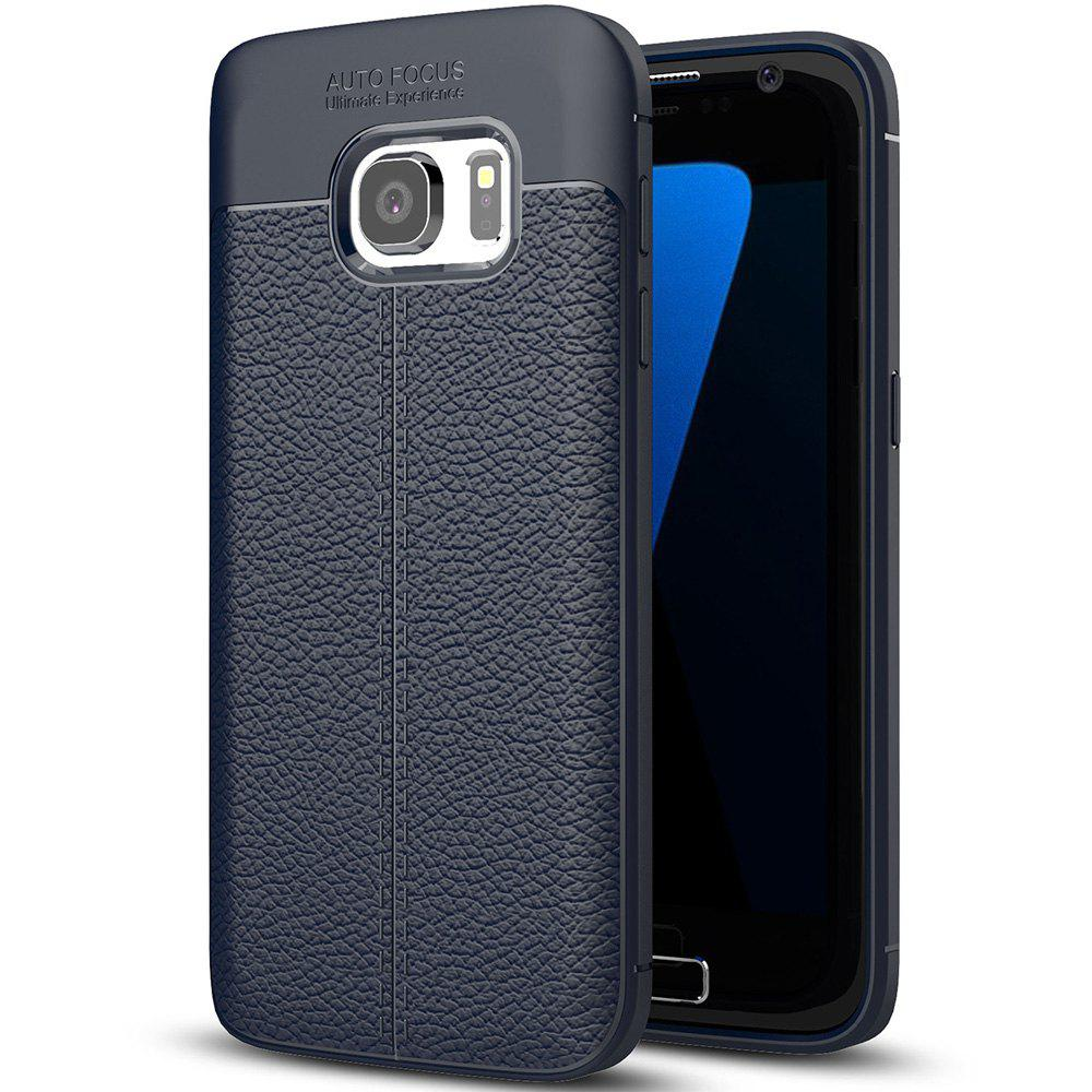 ASLING Lichee PU + TPU Case for Samsung Galaxy S7HOME<br><br>Color: CADETBLUE;