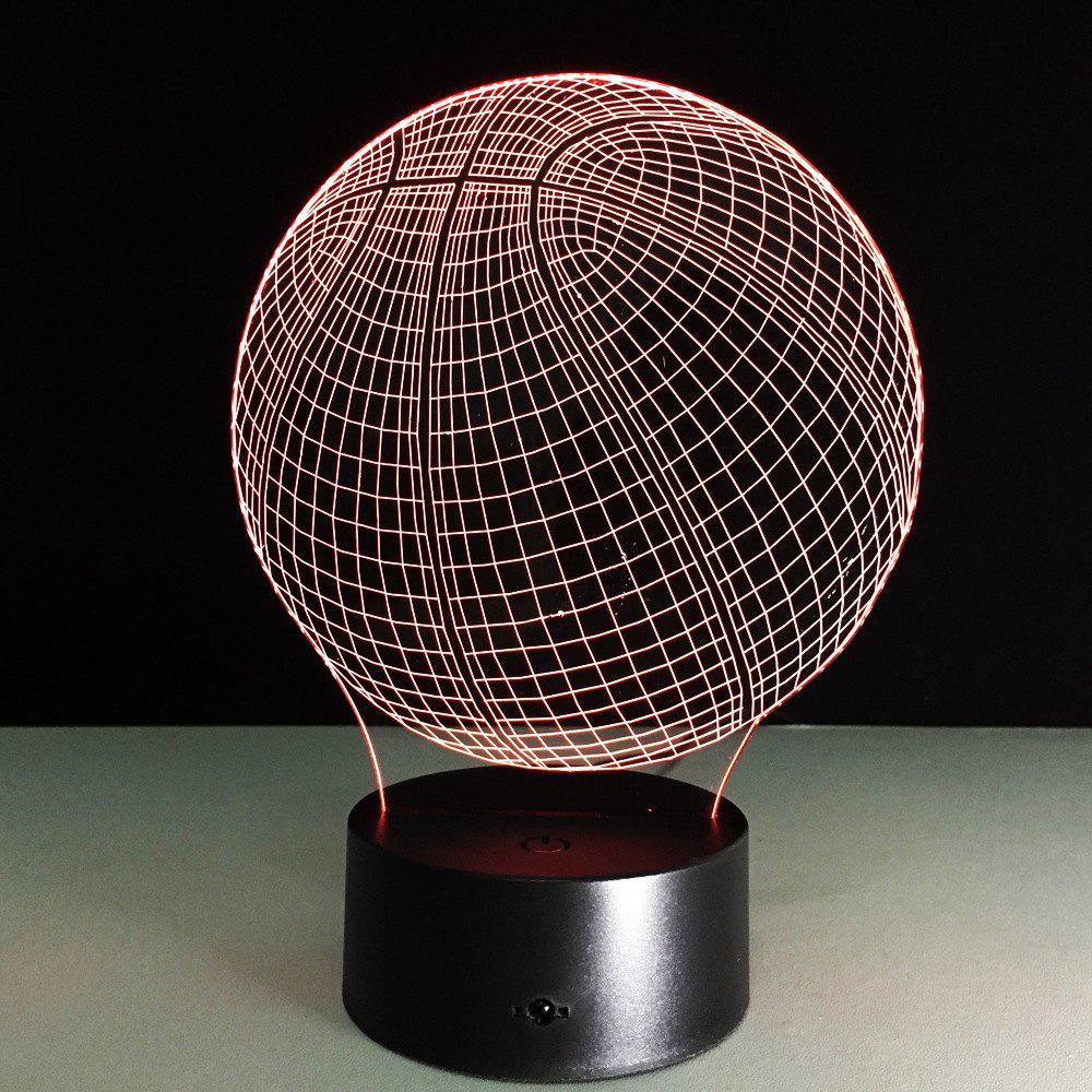 Yeduo Novelty 3D Visual Acrylic LED Night Light Basketball USB Lighting Bedroom Table LampHOME<br><br>Color: COLORMIX; Product weight: 0.4000 kg; Package weight: 0.4100 kg; Product size (L x W x H): 22.00 x 13.00 x 9.00 cm / 8.66 x 5.12 x 3.54 inches; Package size (L x W x H): 25.00 x 14.00 x 10.00 cm / 9.84 x 5.51 x 3.94 inches; Package Contents: 1 x Night Light, 1 x USB Cable;