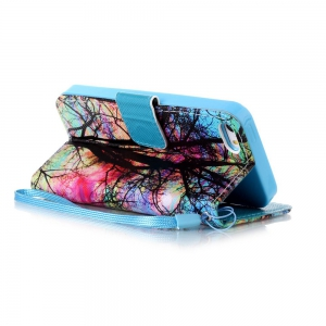 Painted PU Phone Case for iPhone 5 / 5S / SE -