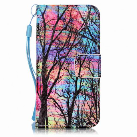 Affordable Painted PU Phone Case for iPhone 5 / 5S / SE