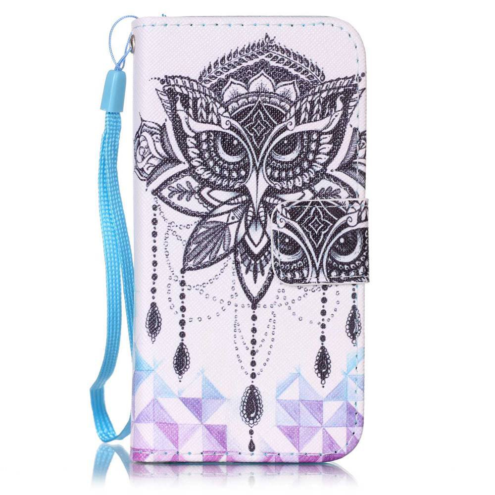 Online Painted PU Phone Case for iPhone 5 / 5S / SE