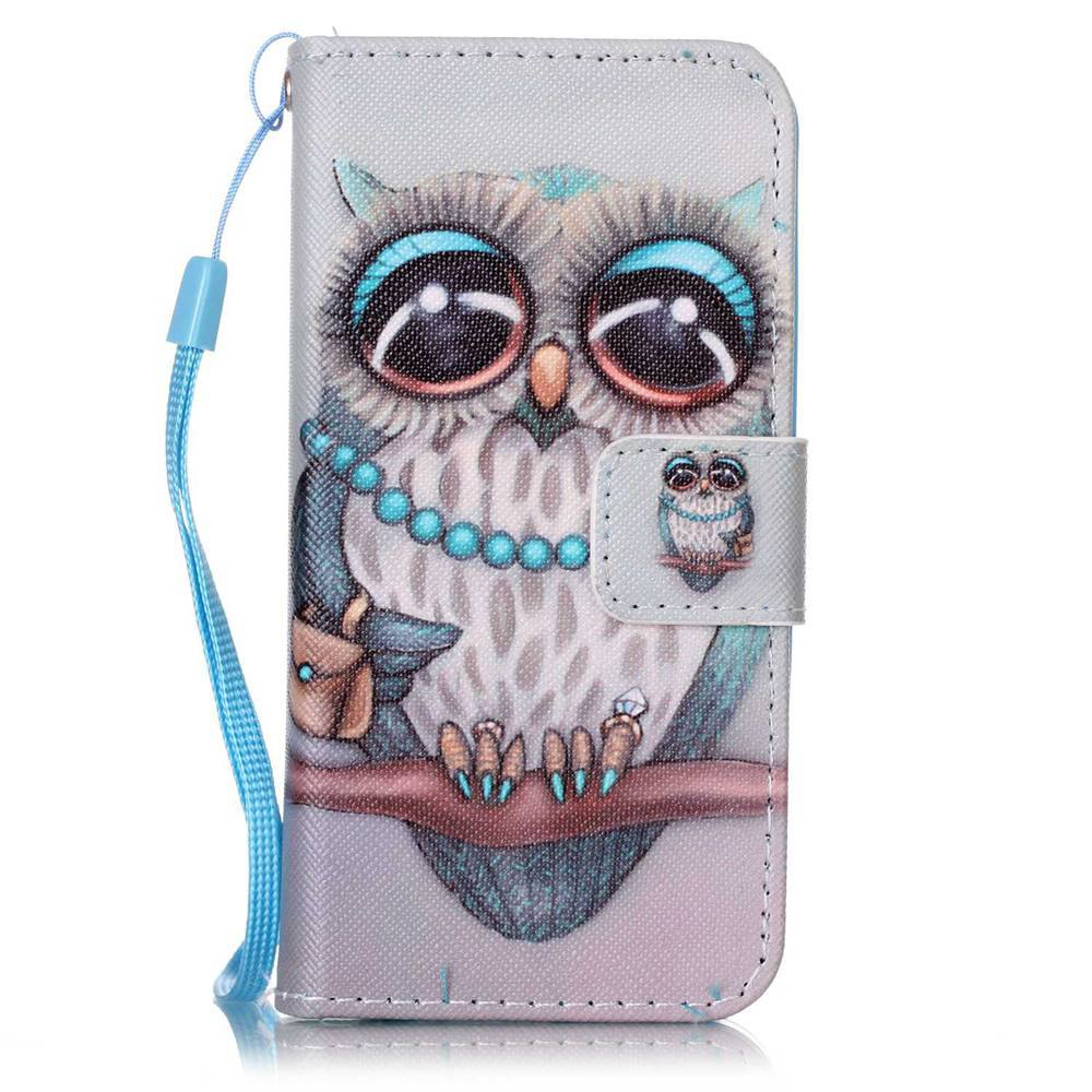 Trendy Painted PU Phone Case for iPhone 5 / 5S / SE