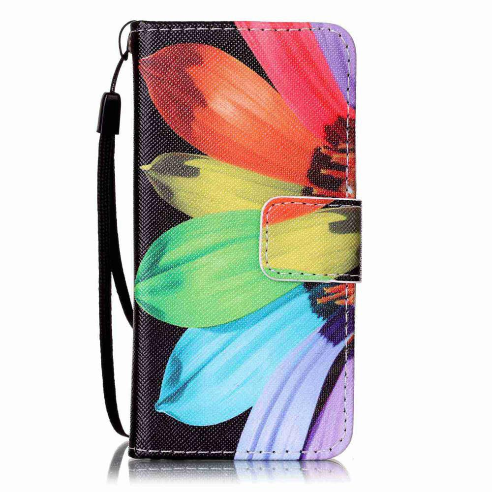 Outfits Painted PU Phone Case for iPod Touch 5 / 6