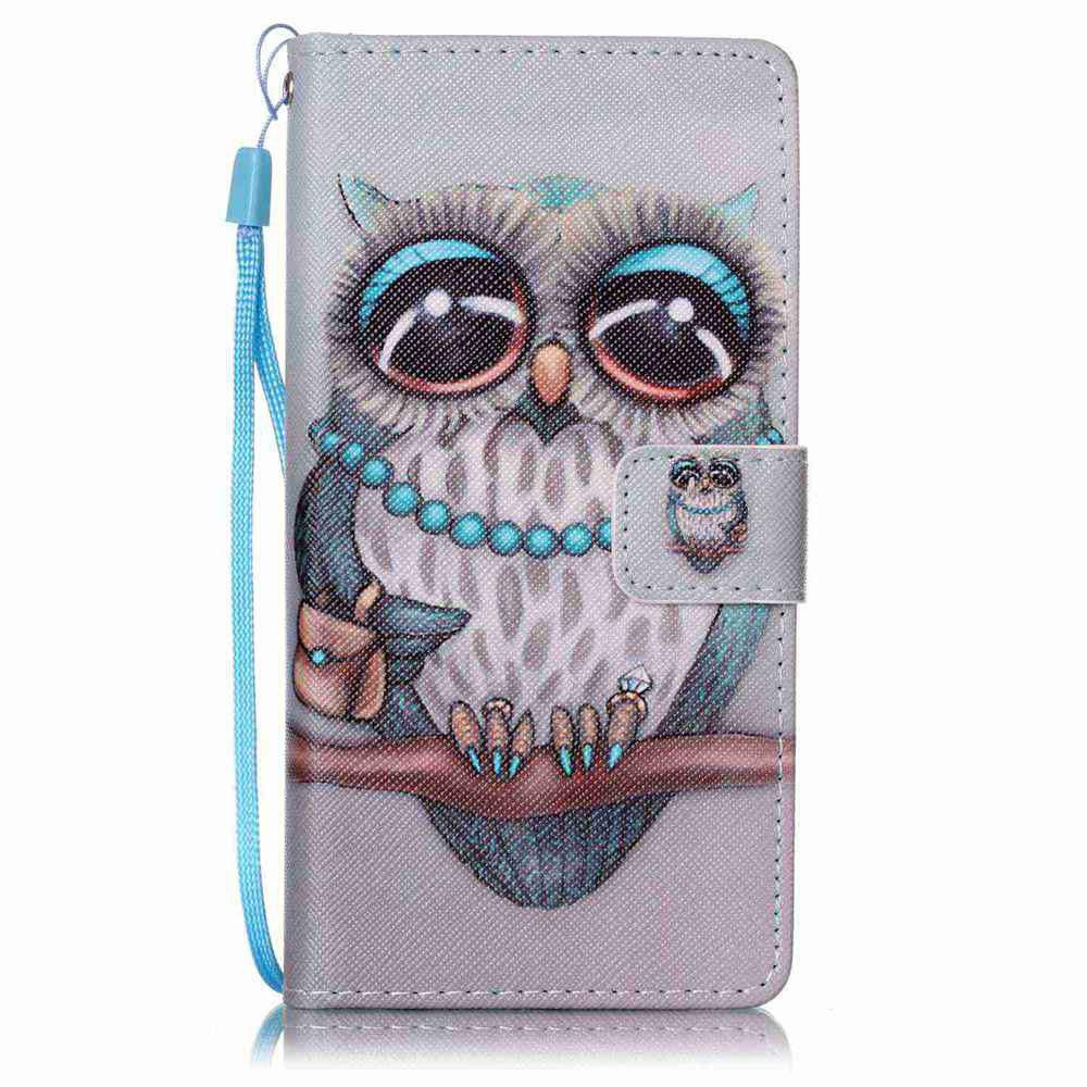 Fancy Painted PU Phone Case for HUAWEI P9 Lite