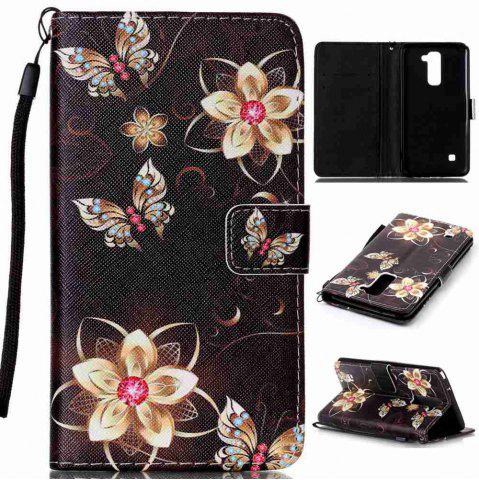 Fancy Painted PU Phone Case for LG LS775 / STYLUS2