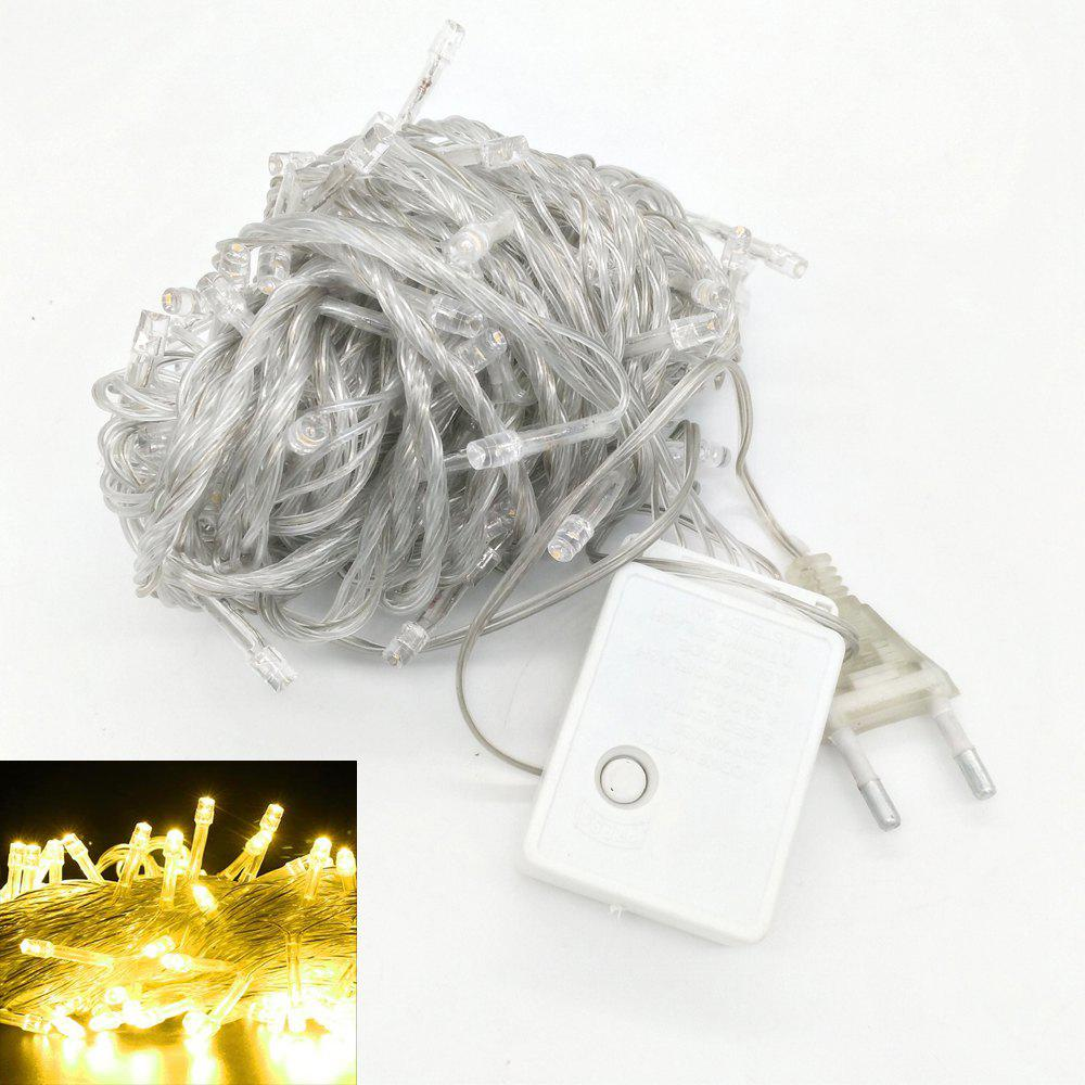 ZDM 1000CM 100PCS LED White String Decoration Light For Christmas Party Wedding  EU Plug AC220VHOME<br><br>Color: YELLOW LIGHT; For: Home,Hotel,Restaurant; Power Supply: USB Cable; Product weight: 0.1900 kg; Package weight: 0.2000 kg; Product size (L x W x H): 1,000.00 x 3.00 x 3.00 cm / 0.39 x 1.18 x 1.18 inches; Package size (L x W x H): 13.00 x 8.00 x 7.00 cm / 5.12 x 3.15 x 2.76 inches; Package Contents: 1 x Decorative Light;