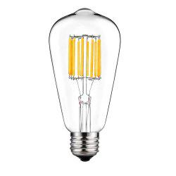 SUPli 10W ST64 Edison Warm White 100W Equivalent Vintage LED Filament Bulb with 360 Degree Beam Angle -