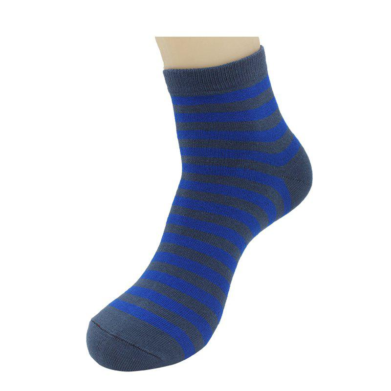 Men Teenage Student Cotton Sports Casual Fashion Tube SocksACCESSORIES<br><br>Size: ONE SIZE; Color: CERULEAN;