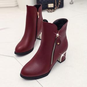 High Heels and Zipper Warm Martin Boots in The Fall -