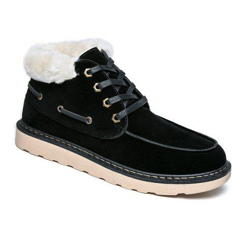 Chic High Vamp Men Winter Warm Shoes