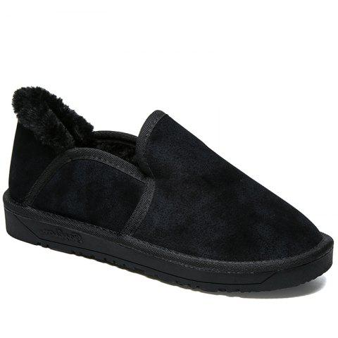 Chic Low Vamp Fashion Men Warm Winter Shoes