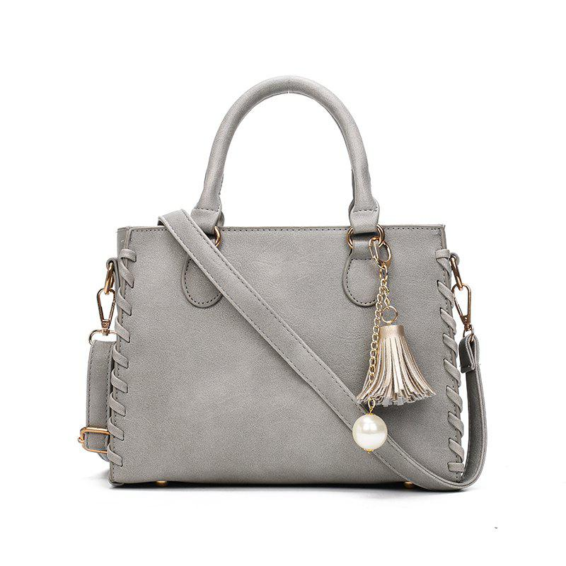 Simple Casual PU Leather Chic Shoulder Bag for WomenSHOES &amp; BAGS<br><br>Color: GRAY;