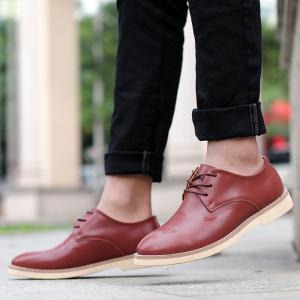 Bullock Carved Leather Casual Shoes Business Air Feet British Tide All-Match Shoes -