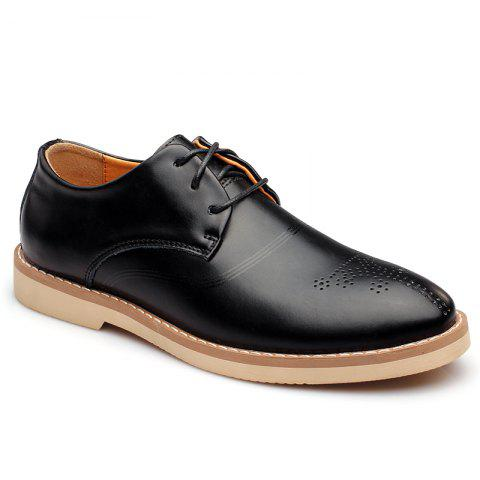 Outfit Bullock Carved Leather Casual Shoes Business Air Feet British Tide All-Match Shoes