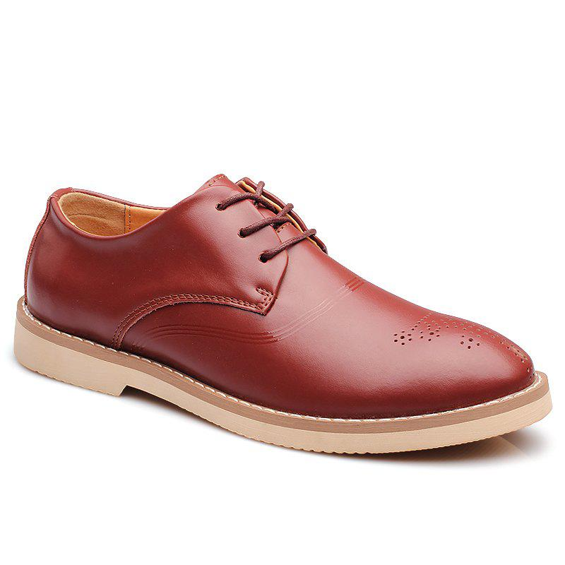 Outfits Bullock Carved Leather Casual Shoes Business Air Feet British Tide All-Match Shoes
