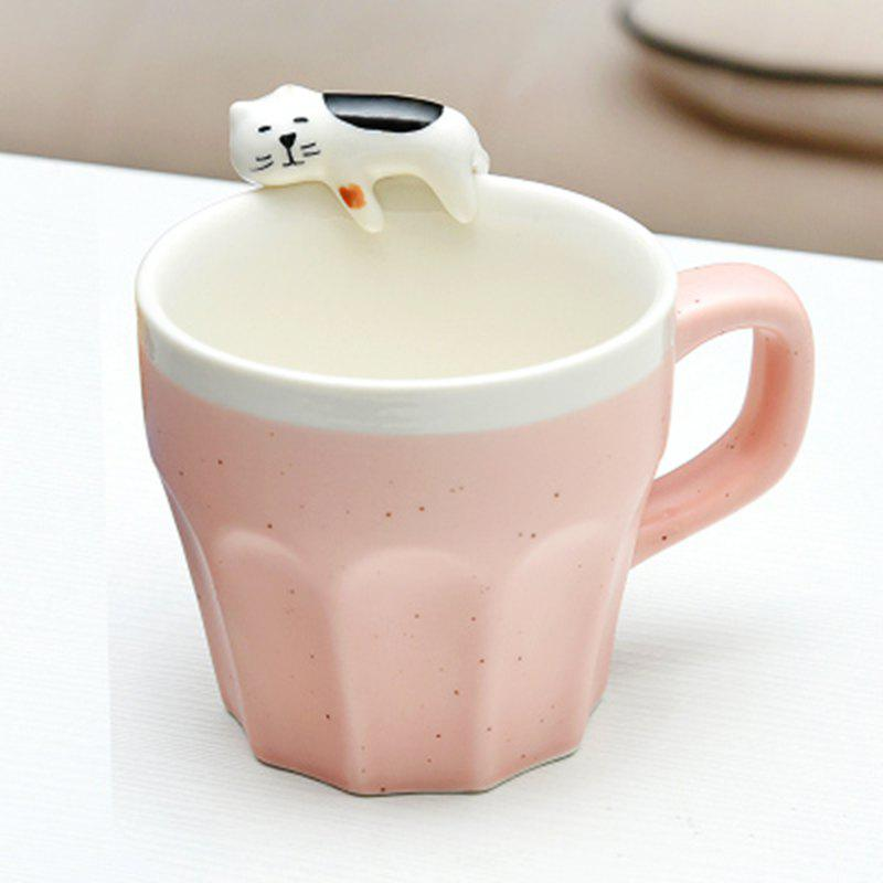 300ML Cat Ceramic MugHOME<br><br>Color: SHALLOW PINK; Type: Coffee,Milk,Tea,Water; Suitable for: Home; Material: Ceramics; Color: Dark Green,Green,Light blue,Others,Red; Package weight: 0.5000 kg; Product weight: 0.4000 kg; Product size (L x W x H): 9.00 x 6.40 x 8.00 cm / 3.54 x 2.52 x 3.15 inches; Package size (L x W x H): 11.00 x 10.50 x 10.00 cm / 4.33 x 4.13 x 3.94 inches; Package Contents: 1 x Mug;