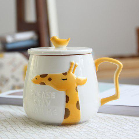 Affordable 400ML Cartoon Embossed Ceramic Mug