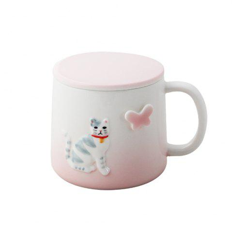 Outfit 375ML Cartonn Naughty Cat Ceramic Cup