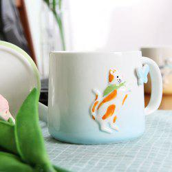 Mug 375ML Cartonn Naughty Cat Tasse en Céramique -