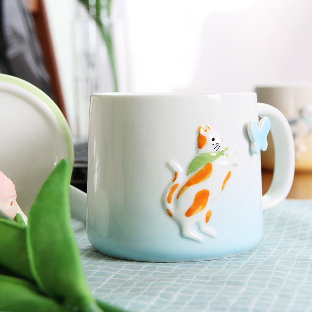 Mug 375ML Cartonn Naughty Cat Tasse en Céramique