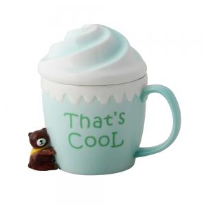 350ML Cartoon Ice Cream Ceramic Cup -