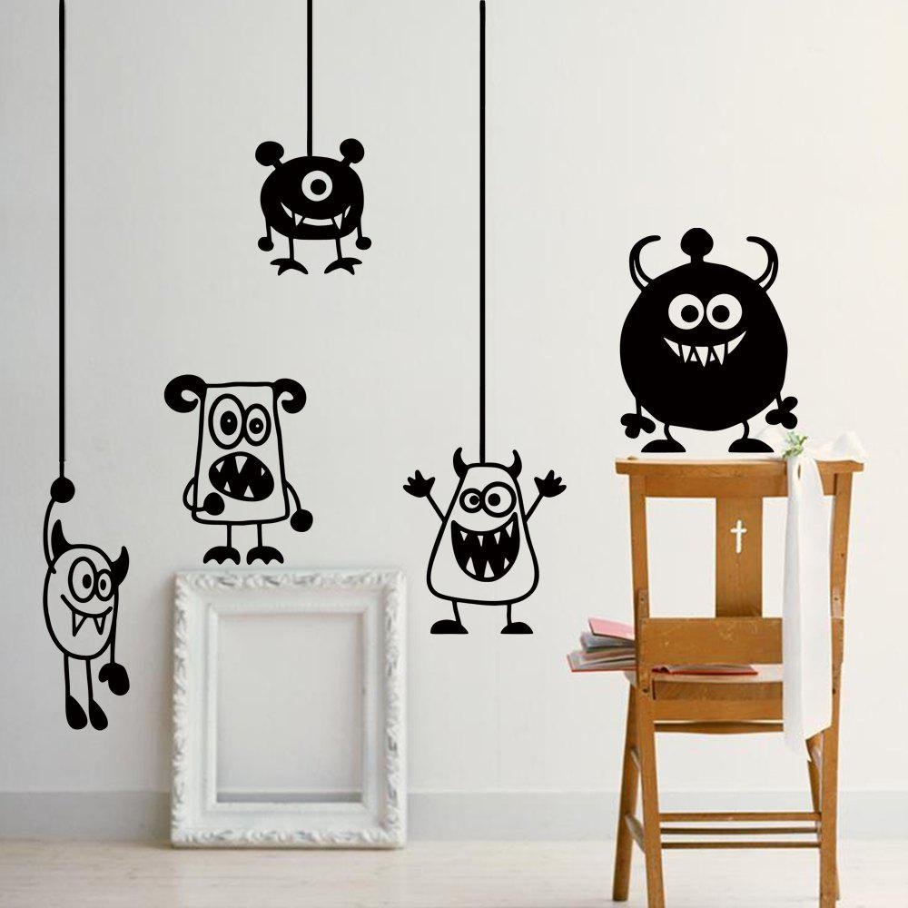 Cartoon Animal Creative Wall Stickers For Kids RoomHOME<br><br>Color: BLACK; Type: Plane Wall Sticker; Subjects: Cartoon; Function: Decorative Wall Sticker; Material: Vinyl(PVC); Suitable Space: Boys Room,Girls Room,Kids Room,Kids Room; Layout Size (L x W): 57 x 20cm; Effect Size (L x W): 57 x 20cm; Quantity: 1;