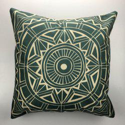DIHE Ancient Geometric Pattern Style Linen Decorative Pillow Case Cushion Cover -