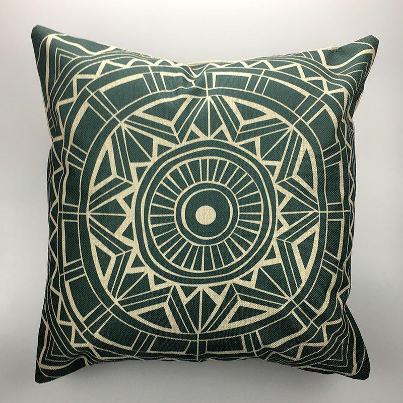DIHE Ancient Geometric Pattern Style Linen Decorative Pillow Case Cushion CoverHOME<br><br>Color: COLORMIX; Brand: DIHE; Category: Pillow Case; Material: Linen; For: All; Occasion: Bar,Bedroom,KTV;