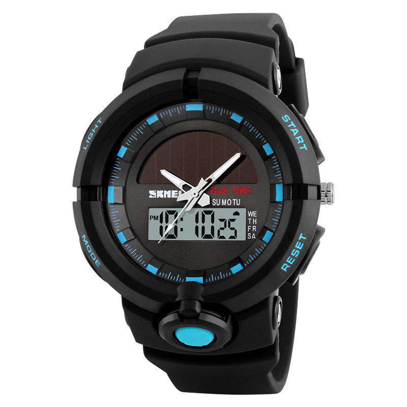 Fashion Sports Waterproof Solar Electronic Men WatchJEWELRY<br><br>Color: BLUE; Watches categories: Men; Watch style: Casual,Fashion;