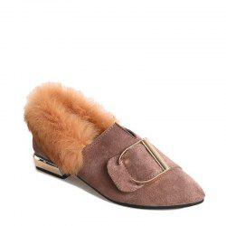 Korean Version of The Wild Tip Hairy Shoes -