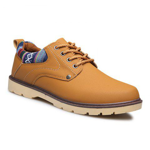 Discount Solid Lace up Leisure Men Shoes
