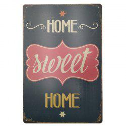Vintage Style Sweet Home Metal Painting for Cafe Bar Restaurant Wall Decor -