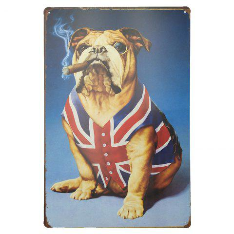 Online Vintage Style Funny Dog Metal Painting for Cafe Bar Restaurant Wall Decor